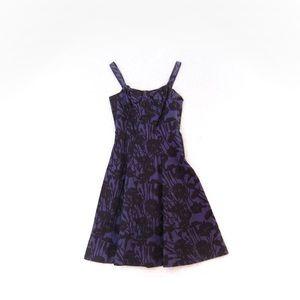 Marc Jacobs Purple Floral Dress A-Line Sleeveless